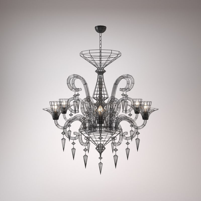 obj modern chandelier - light
