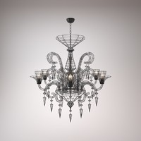 obj modern chandelier - light