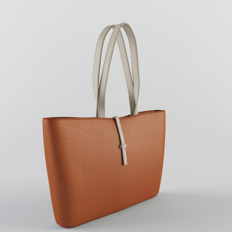 woman handbag bag 3d 3ds