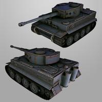 TIGER tank lowpoly