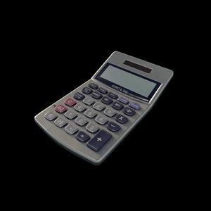 calculator 3d obj