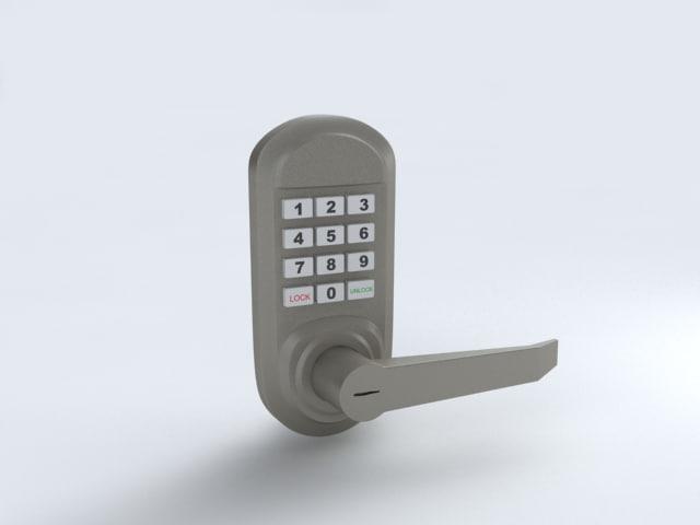 keypad door lock 3d 3ds