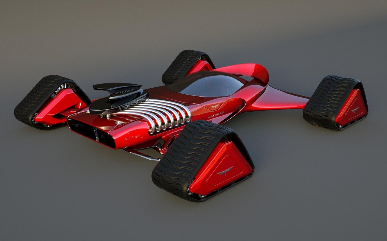 3d trax designed tracks model