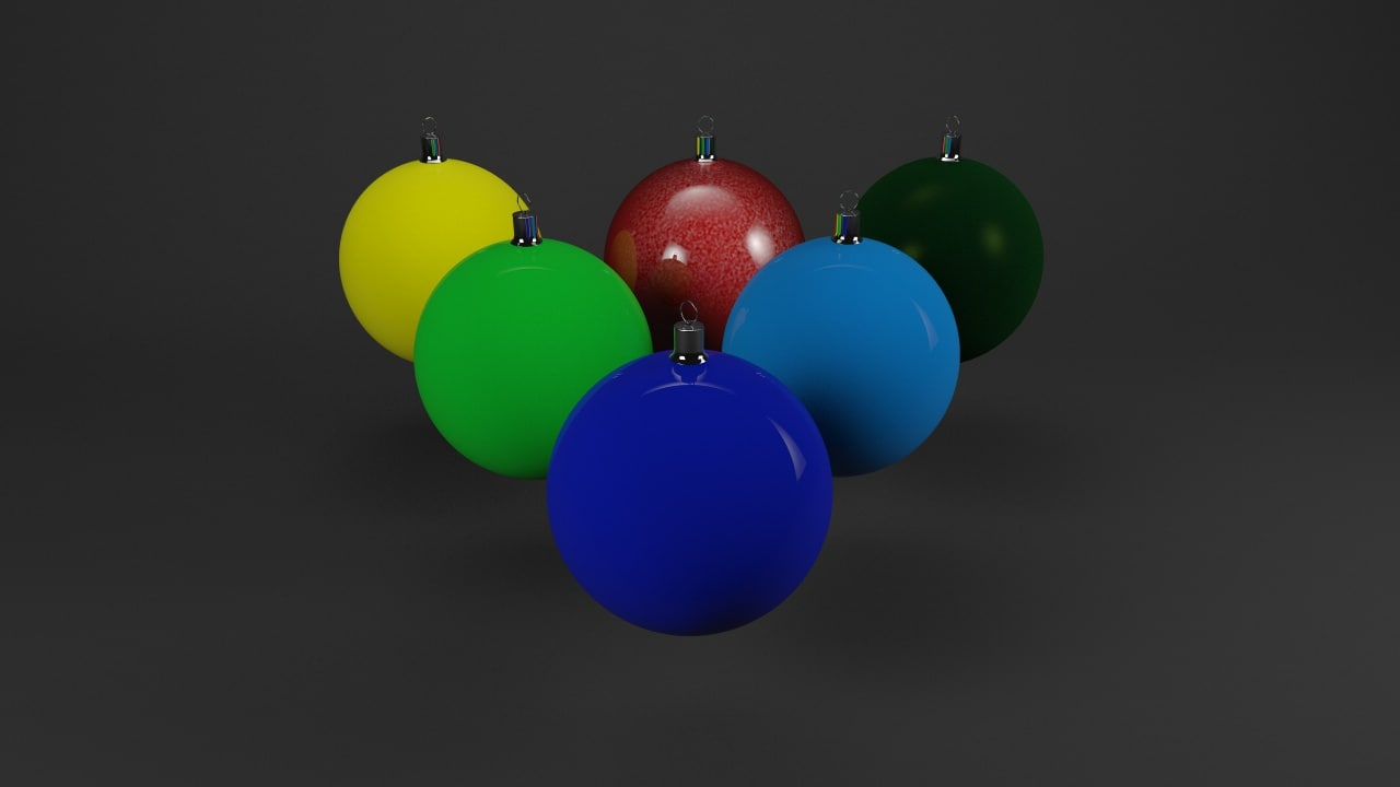 3dsmax christmas balls