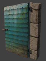 3d old cellar door model