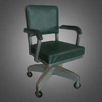 3d obj office chair ready