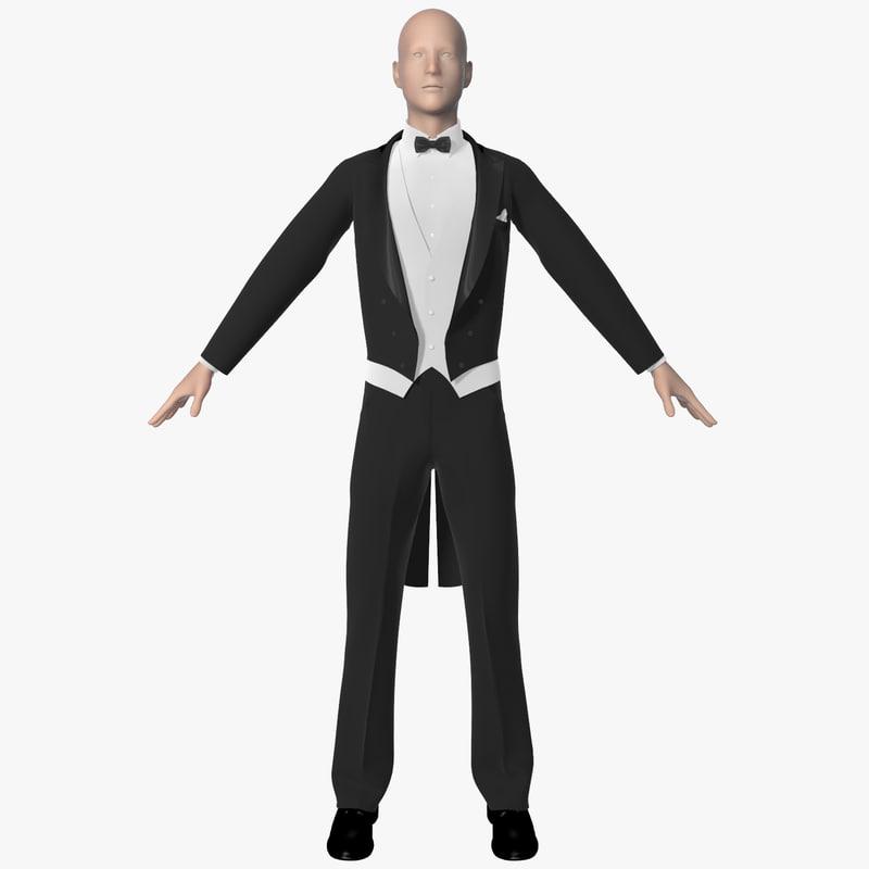 3d tuxedo men