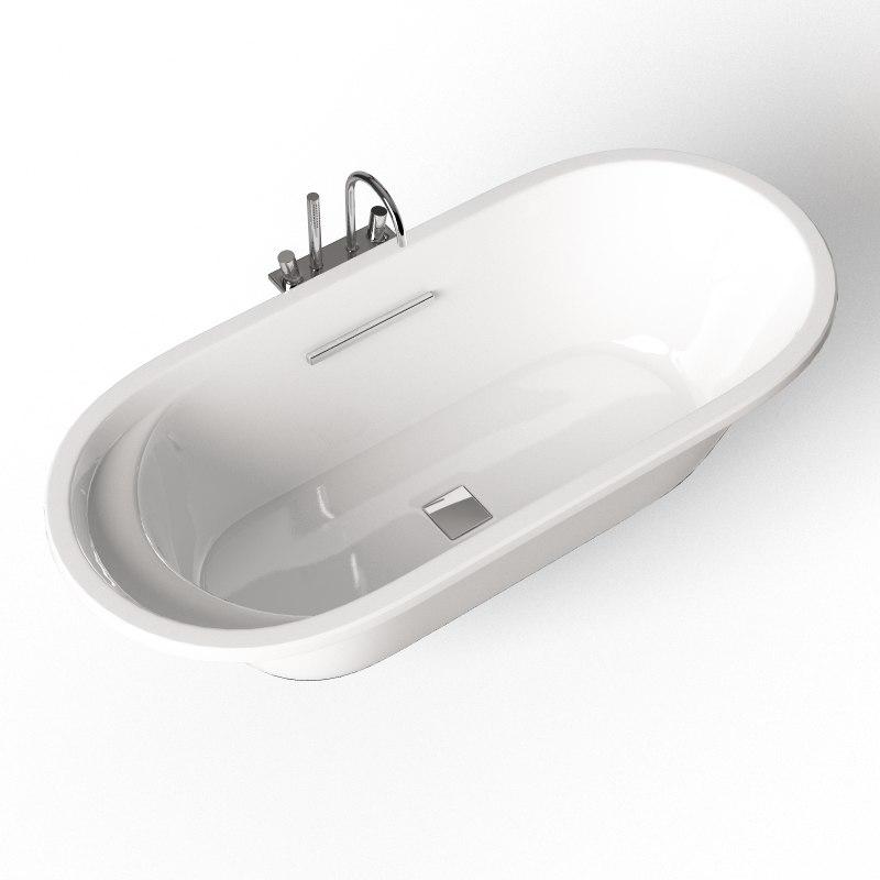 3d bathtub jacob delafon lovee model