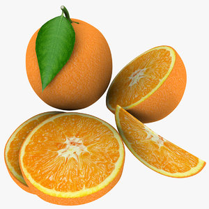 3d model orange mix