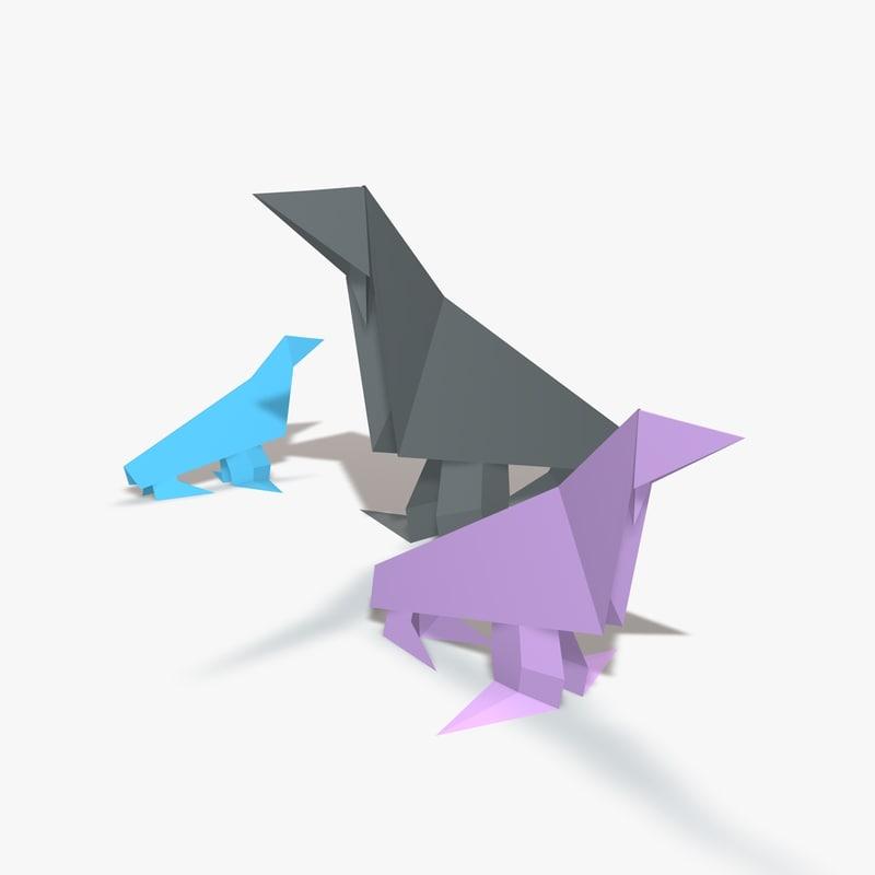 origami sealion 3d 3ds