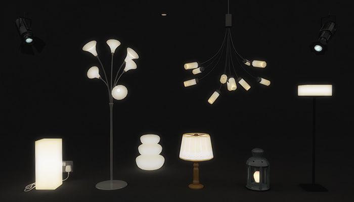 3d model lamps lights