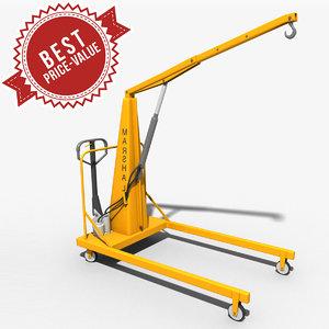 hand operative crane 3d model