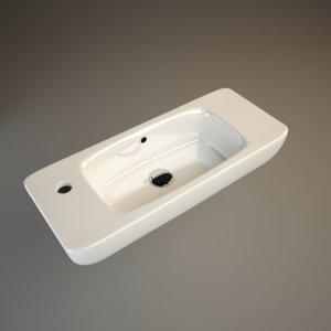 d-code duravit washbasin 3d 3ds