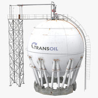 3ds oil storage tank modeled