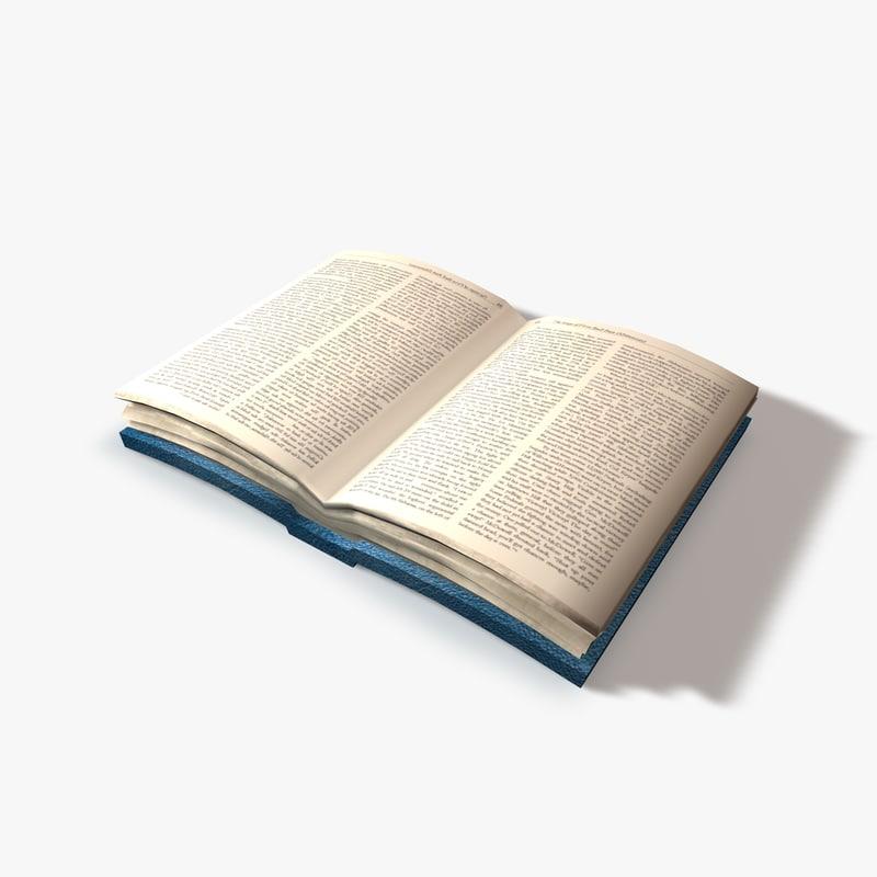 3d model open book