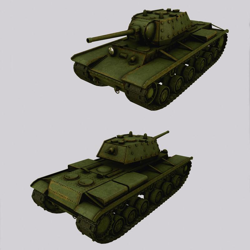 3d kv-1 soviet tank