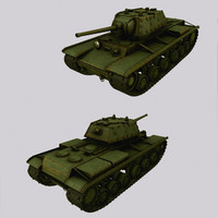 Tank KV-1 (Kliment Voroshilov) low poly
