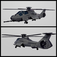 3d model of army stealth helicopter rah-66 comanche