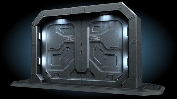 sci fi gate door model