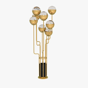 3d model floor lamp lights