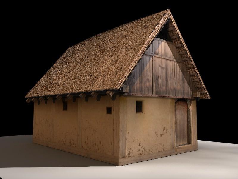 medieval wooden house 3d model