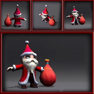 3ds max santa rigged animation