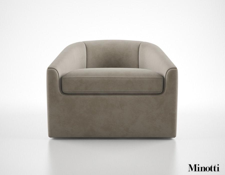 3dsmax minotti quinn armchair