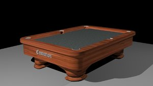 pool table simple 3d max