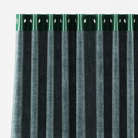 3d curtain green