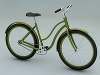 3d vintage bicycle