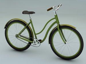 3d vintage bicycle