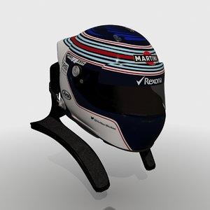 3d model formula valtteri bottas helmet