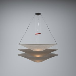 modern hanging lamp lights 3d obj