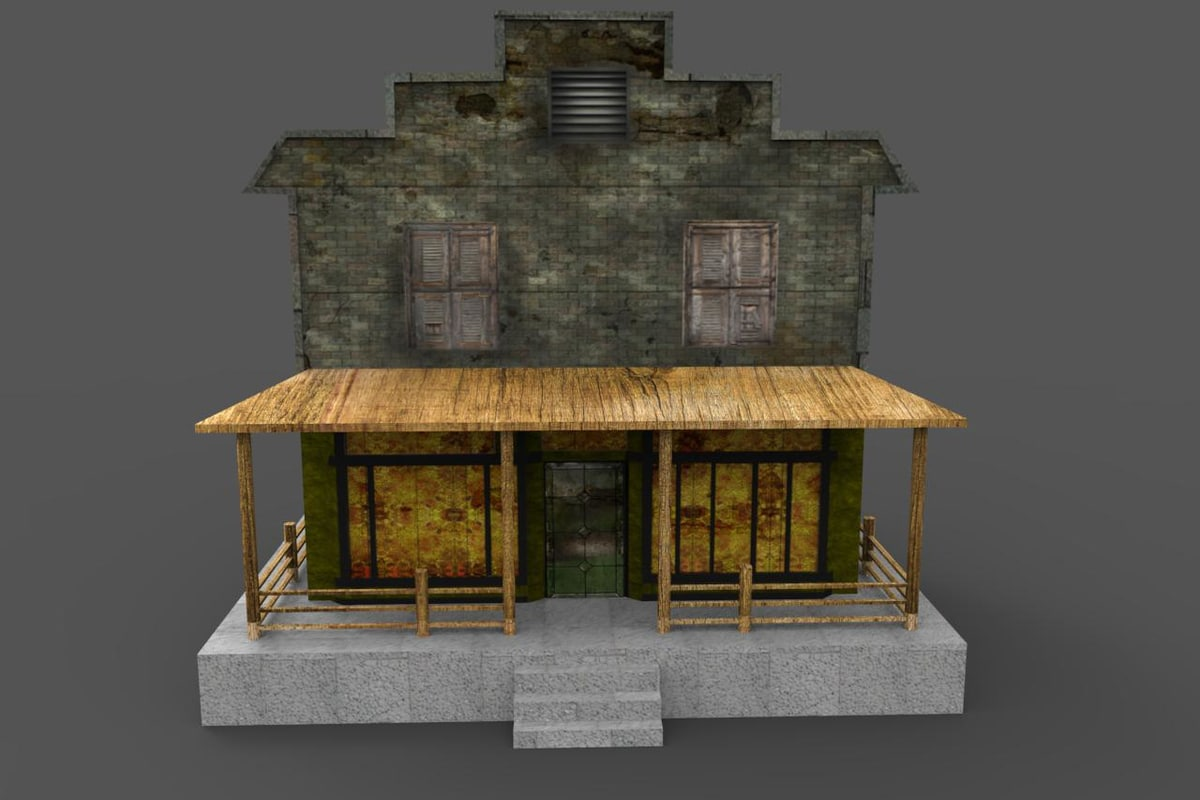 abandoned floor shop 3d model