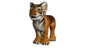 hand painted tiger 3d 3ds
