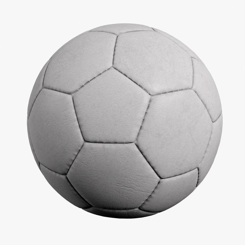 3d football ball soccer model