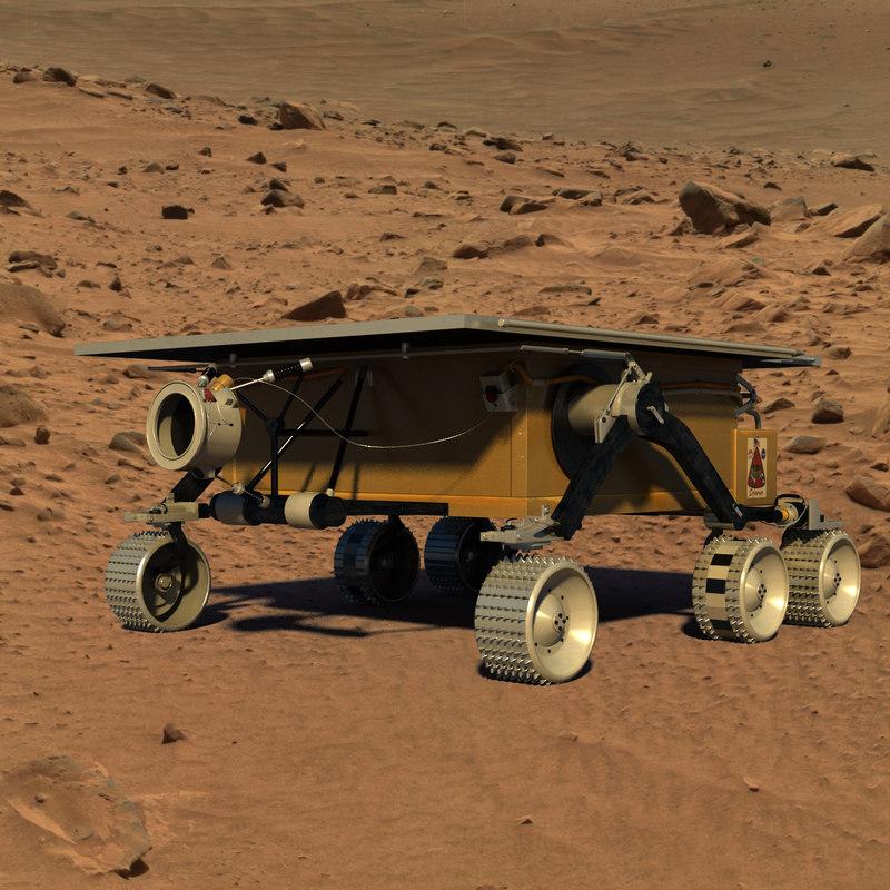 mars sojourner rover 3d model