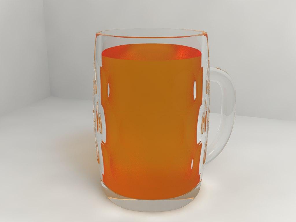 3dsmax beer glass