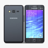 samsung z1 black 3d model