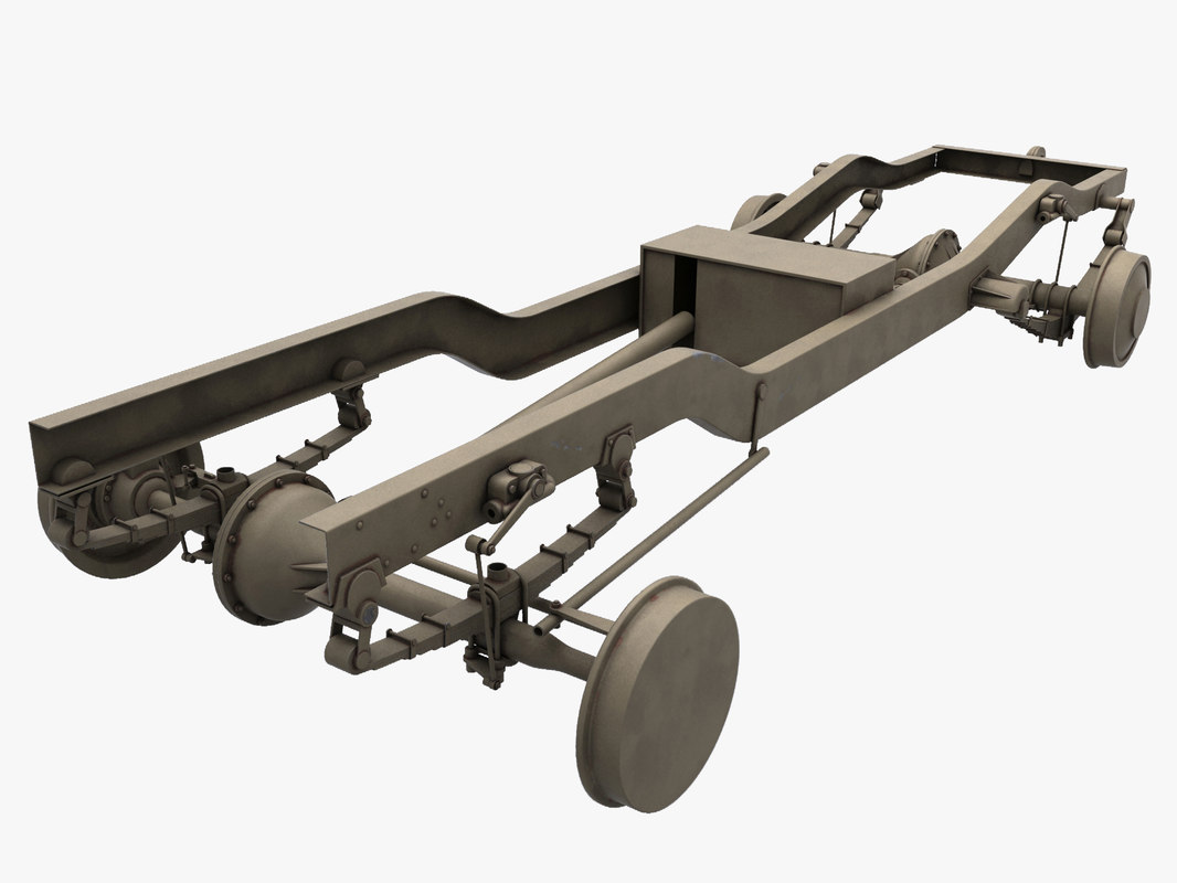 chassis truck 3d model
