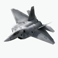 f-22 raptor 3d model