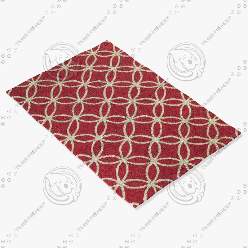 3d model rizzy home rugs multi-colored
