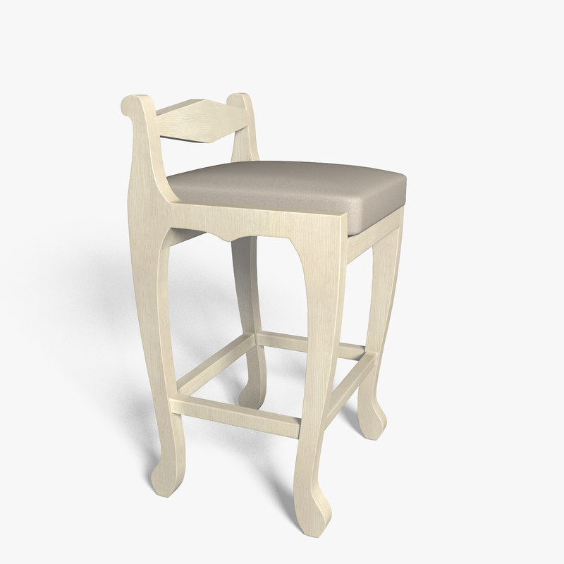 3d bar chair model