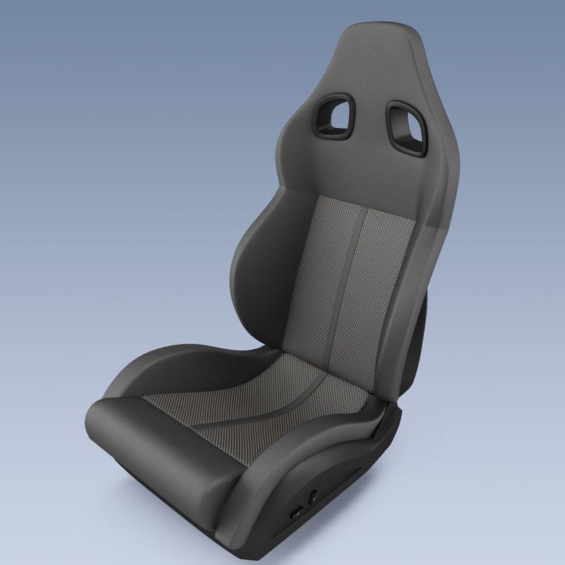 racing seat 3d model