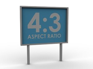 free simple billboard aspect ratio 3d model
