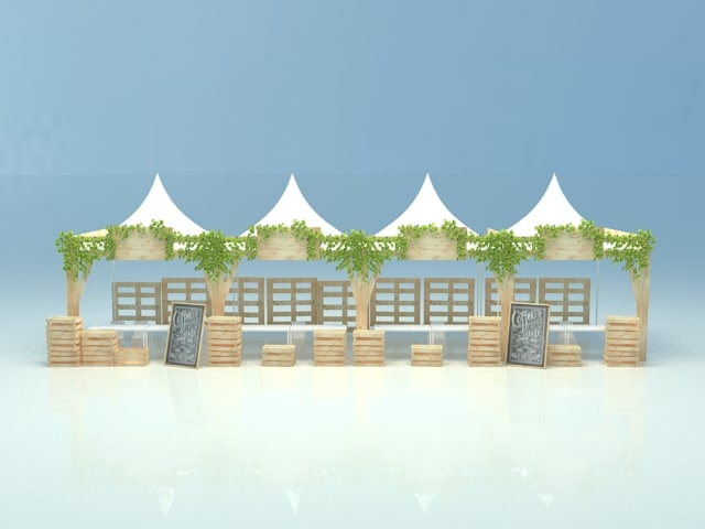 tent booth 3d model