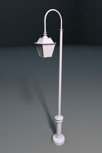 3d model streetlight lighting