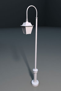 3d model streetlight lighting