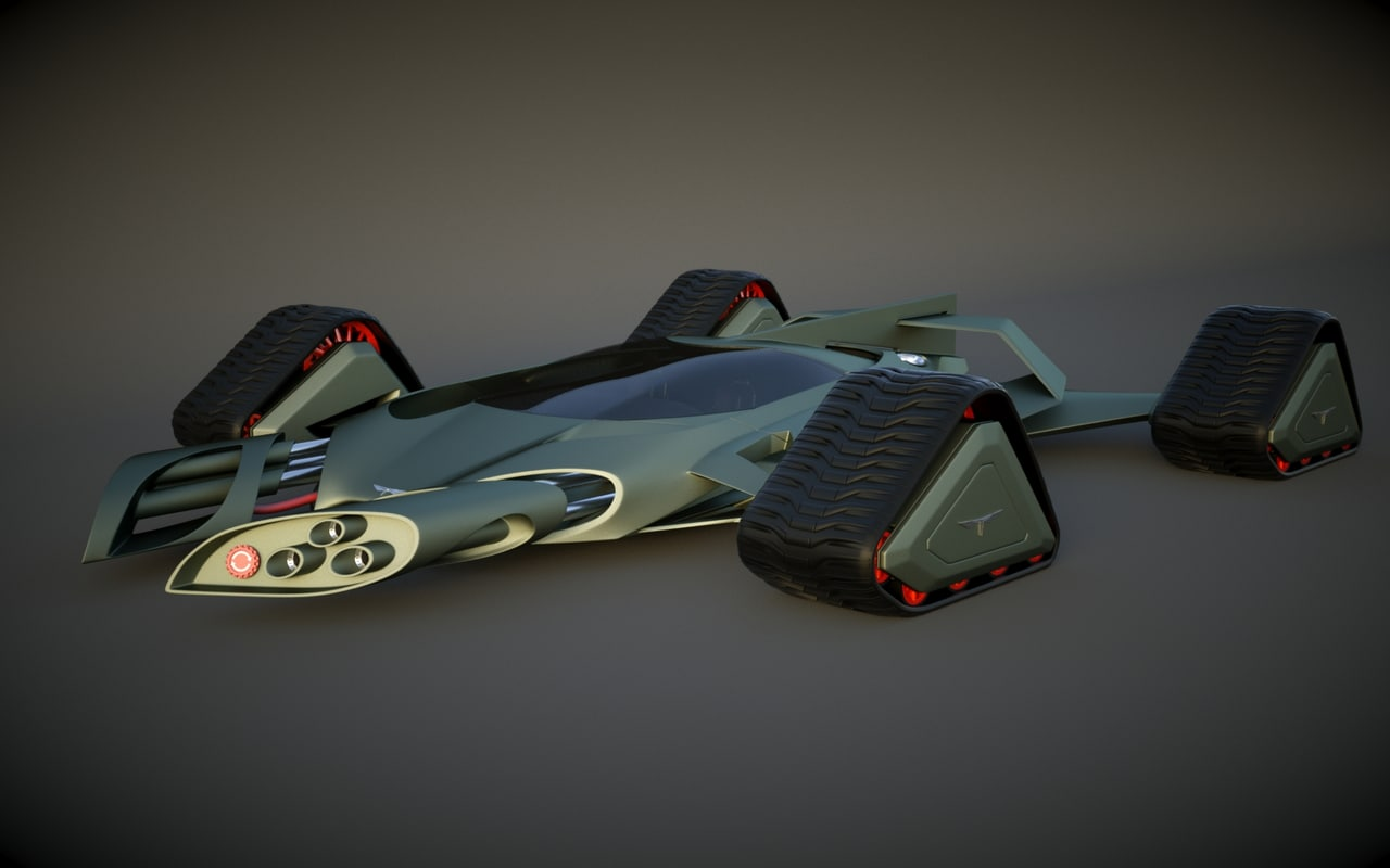 3ds max fighter tank