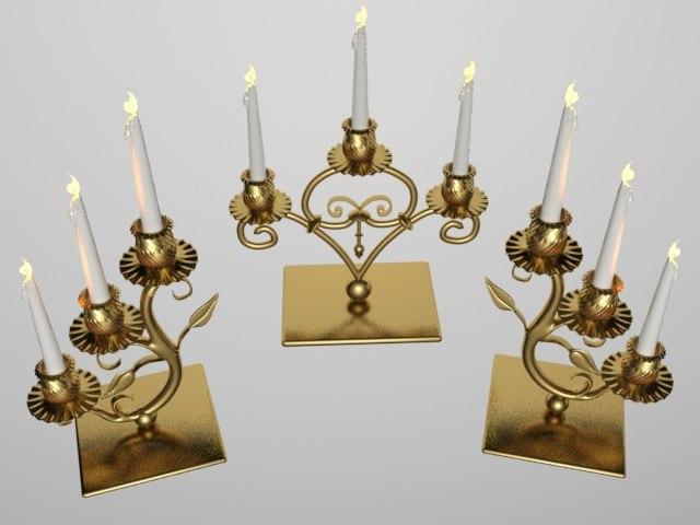 3d model candlesticks candle holder